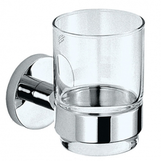 Стеклянный стакан с держателем Mofem Fiesta