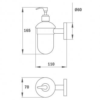 Стеклянный дозатор для жидкого мыла Teka Fiesta