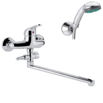 Смеситель для ванны и умывальника Nordline Simple с набором