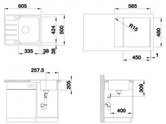 Кухонная мойка BLANCO LEMIS 45 S-IF Mini