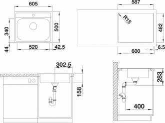 Кухонная мойка BLANCO DANA 6