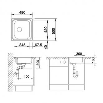 Кухонная мойка Blanco TIPO 45 C