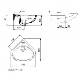 Умывальник Ideal Standard Ecco 44x40