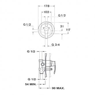 Смеситель для душа Teka MC-10 Plus скрытый