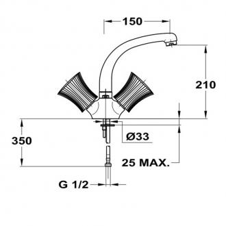 Смеситель для кухни Mofem Metal С150