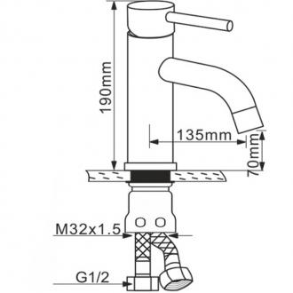 Смеситель для умывальника Melana MLN-F6111