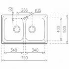 Кухонная мойка  ТЕКА UNIVERSE 80 T-XN 2B MATT