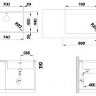 Кухонная мойка BLANCO ANDANO 700-U