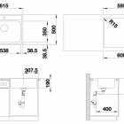 Кухонная мойка BLANCO LEMIS 6-IF