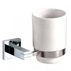 Керамический стаканчик для зубных щеток с квадратным креплением