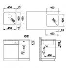 Кухонная мойка Blanco SUPRA 400-U