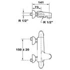 Смеситель для ванны Teka stylo термостат