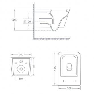 Подвесной безободковый унитаз TEKA FORMENTERA с сиденьем микролифт