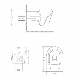 Подвесной безободковый унитаз TEKA NEXOS с сиденьем микролифт