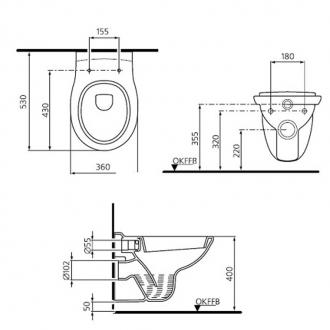 Унитаз подвесной Ideal Standard San Remo W710101 с сиденьем