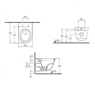 Унитаз подвесной Ideal Standard Tonic K310861 с сиденьем