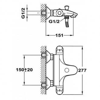 Смеситель для ванны Teka indic термостат