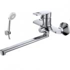 Смеситель для ванны и умывальника Nordline Flat с набором встроенный дивертор